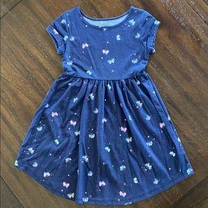 Navy butterfly dress